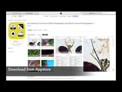 Exif viewer iOS App Fluntro: How to view & remove EXIF Meta data on iPhone & iPad DSLR Photographers