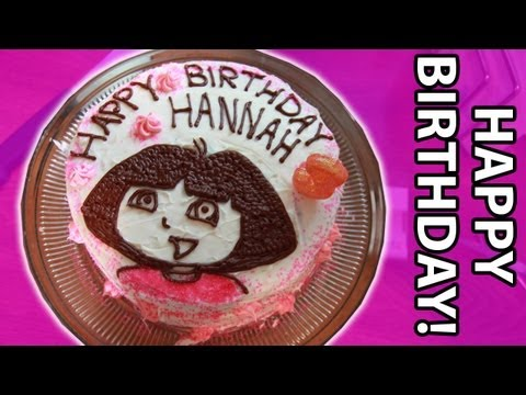 Making a Dora The Explorer Birthday Cake!