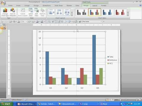 Simple Column Charts in powerpoint 2007 - kamal ghanghas