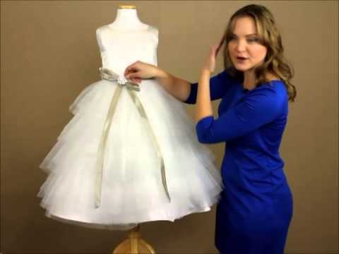 My Girl Dress.com | Dress Review: White Tulle Layered Dress with Satin Sash