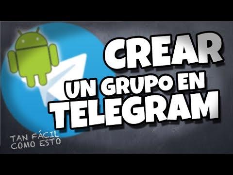 Cómo crear un grupo en Telegram con tu Android