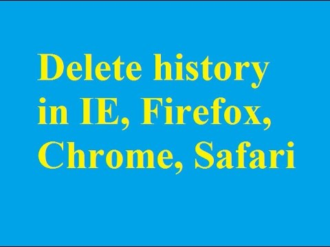 How to delete history in IE, Firefox, Chrome and Safari - Betdownload.com
