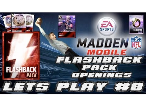 Madden Mobile Lets Play #8- Flashback Pack Opening! + Drew Brees Road To The Ring Set Complete!