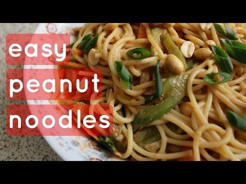 Peanut Butter Noodles // Easy - Cheap - Vegan