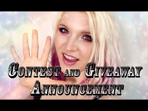 Contest and Giveaway WINNER Announcement!