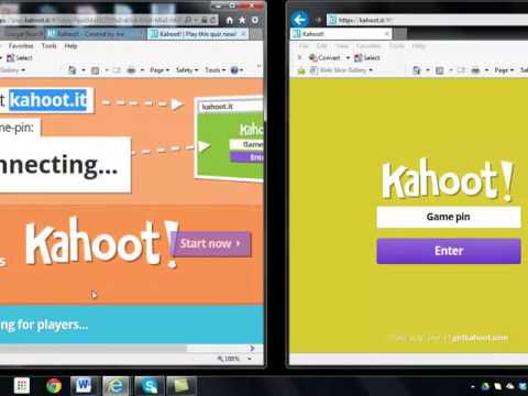kahoot game - play and set up