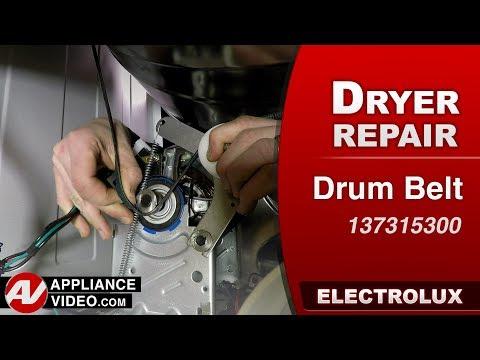 Electrolux Dryer - Drum Belt - Diagnostic & Repair