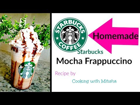 Homemade STARBUCKS MOCHA FRAPPUCCINO | Mocha Frappuccino Recipe | DIY Starbucks Recipe