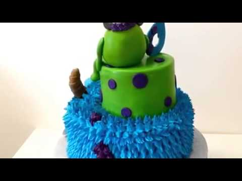 How to make cake Monster INC Cake for 6 year old birthday