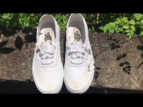 How to easily and quickly clean your white shoes without turning them yellow