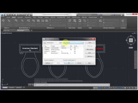 Editing Attributes on a Block with AutoCAD