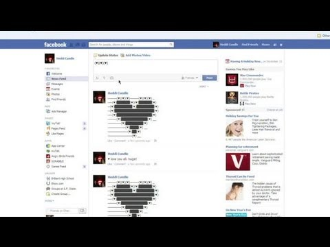 How to Post a Heart on Facebook Status : Facebook Tips & Social Media