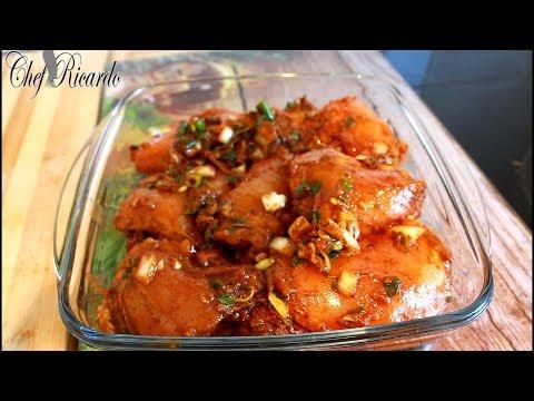 Brown stew chicken how to seasoning it Jamaica way !!
