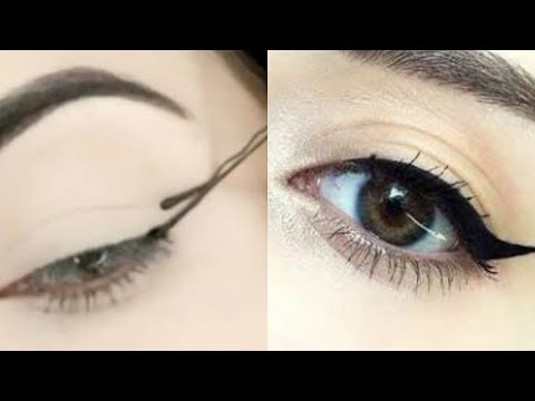 Bobby Pin Winged Eyeliner Hack- #2 #OneMinuteBeauty