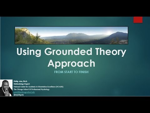 Using Grounded Theory Approach: From Start to Finish (Philip Adu, PhD.)