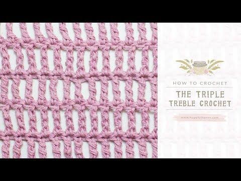How To: Crochet A Triple Treble Crochet (UK Terms)  | Easy Tutorial by Hopeful Honey