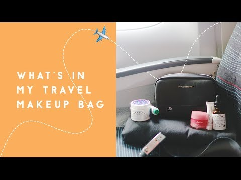 What's in My Travel Makeup Bag - Carry On & Suitcase | Skincare & Beauty for the Plane