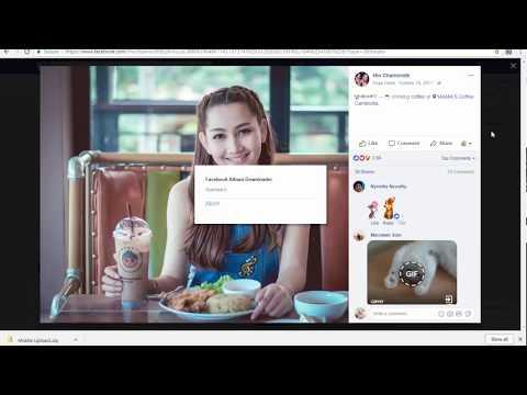 Facebook Photo Album Download with Chrome