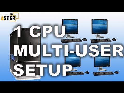 Single CPU Multi user setup ( No Extra Hardware / No Virtual Machine)