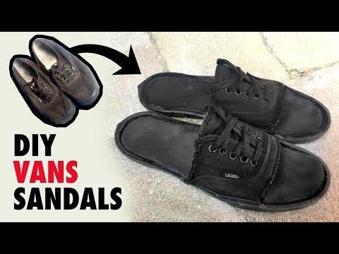 Vans Sandals - DIY - Shoe to Sandal Tutorial