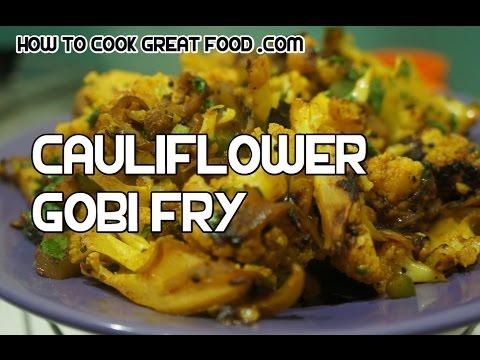 Gobi Fry Recipe - Indian Dry Cauliflower Curry video