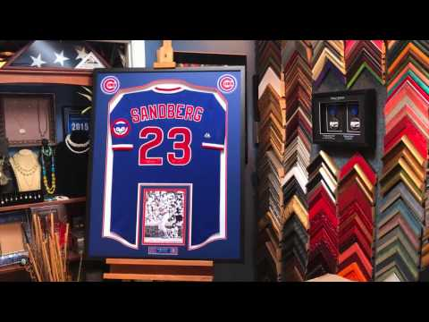 Framing a Signed Chicago Cubs Baseball Jersey