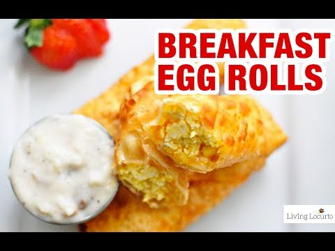 Breakfast Egg Rolls Recipe with Sausage Gravy Dip