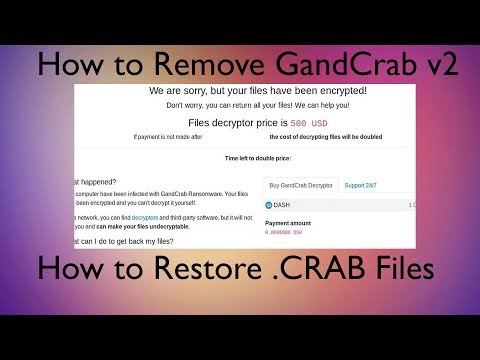 .CRAB Files Virus - How to Remove and Restore (GandCrab v2)