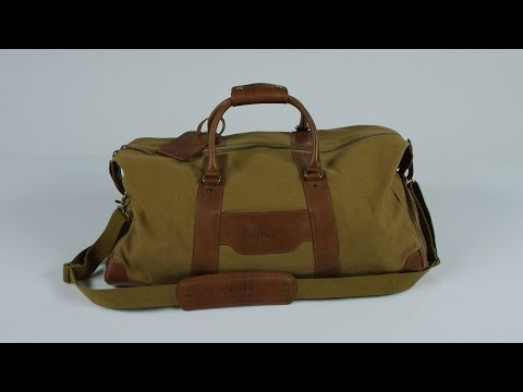 1856 Medium Canvas and Leather Duffle Bag