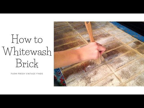 How to Whitewash Brick with DIY Paint