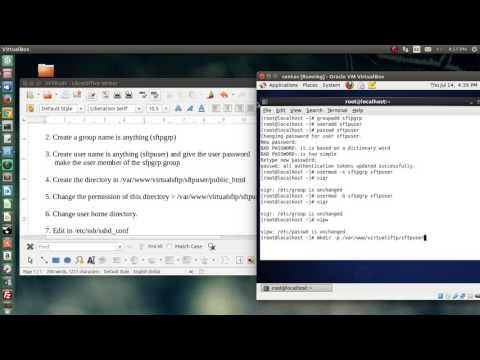 How to setup SFTP on CentOS 6 4