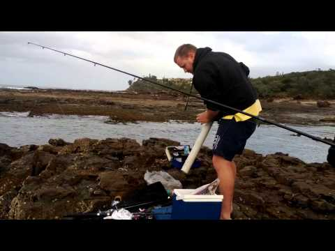 Using a spud gun to cast a fishing line