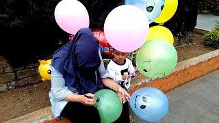 Petualangan Main Balon Gas Dan Menggambar Di Balon