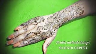 Latest Stylish Arabic Beautiful Mehndi Designs For Hands   Easy Unique Mehndi Art tutorial 4