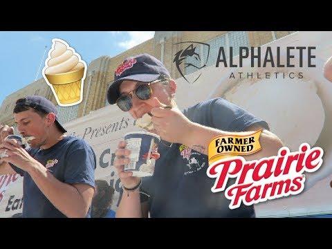 Prairie Farms Ice Cream Eating Contest   Alphalete Meet-Up