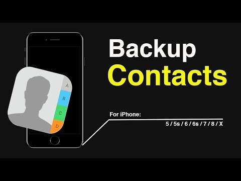How to Backup Contacts on iPhone 5/5s/6/6s/7/8/X