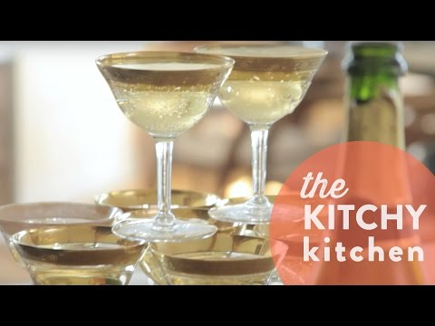 How to Make a Champagne Tower // Living Deliciously with Whitney A