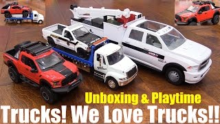 Diecast Cars and Trucks: Fast & Furious Flatbed Tow Truck, Pickup Truck and Service Truck