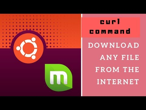 how to use curl command to download any file from the internet (ubuntu,linux mint)