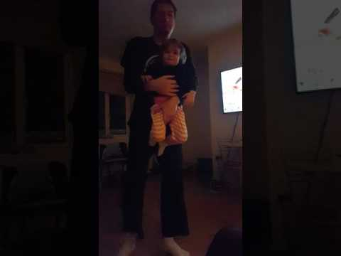 Iggy Azalea Fancy daughter and daddy dancing