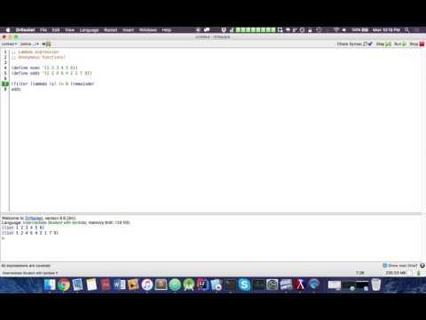 Functional Programming (Racket): Filter List Function