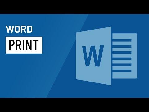 Word 2016: Printing