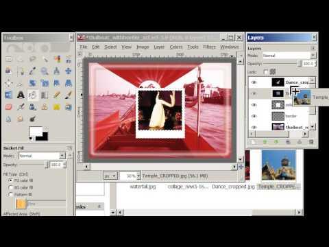 Create a Polaroid Effect in Gimp