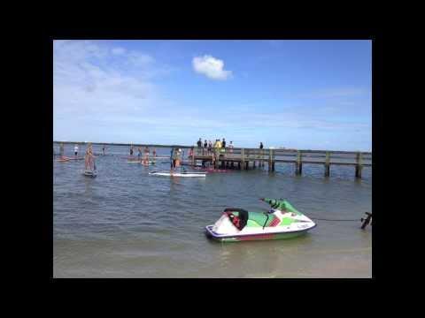 PaddleBoard New Smyrna Beach - Riding Bumps Downwind Race #1