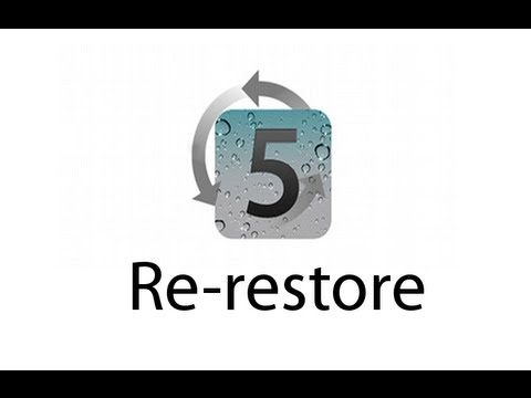 Redsn0w - Re-restore iOS 6, iOS 5, iOS 4 (iPhone, iPod touch, iPad)