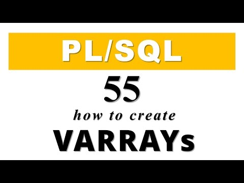 PL/SQL tutorial 55: How to Create VARRAYs inside PL/SQL Block in Oracle Database by Manish Sharma