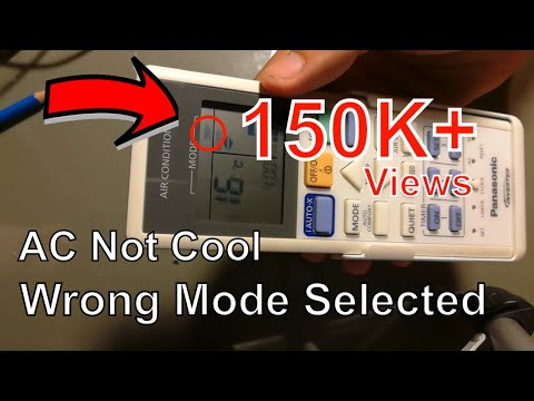 how to check remote controller when the air conditioner does not cool. Panasonic