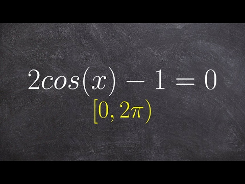 How to solve an equation with cosine