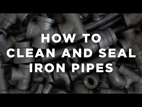 How To Clean and Seal Iron Pipes