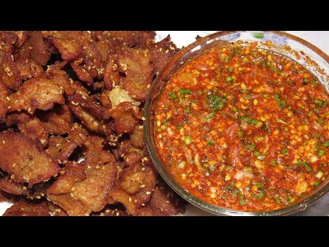 Fried Pork With Spicy Sauce Recipe - Asian Homemade Food YouTube